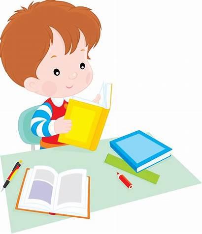 Clipart Homework Student Line Clip Reading Transparent