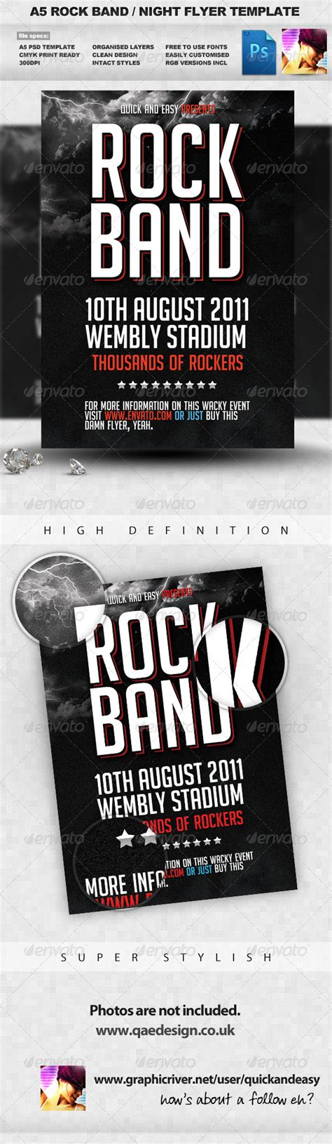 band flyer template creating a rock band flyer in illustrator 187 tinkytyler org stock photos graphics