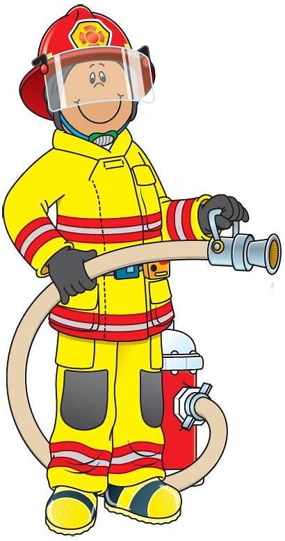 Clipart Firefighter Fireman Clip Fire Community Helpers