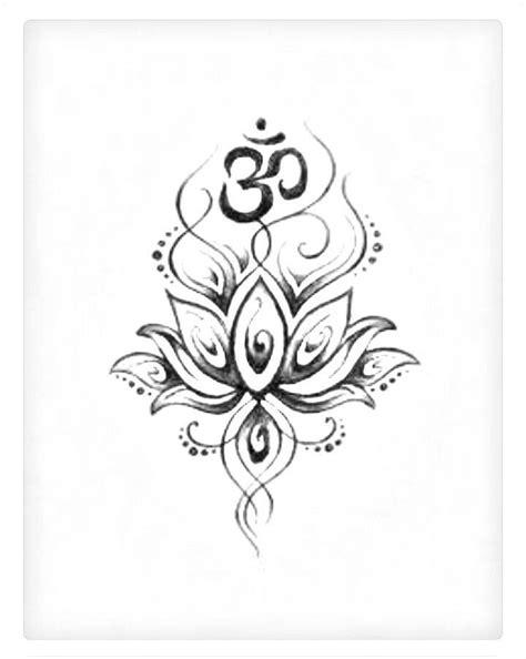 Greyed out lotus Om | Symbolic tattoos, Tattoo designs