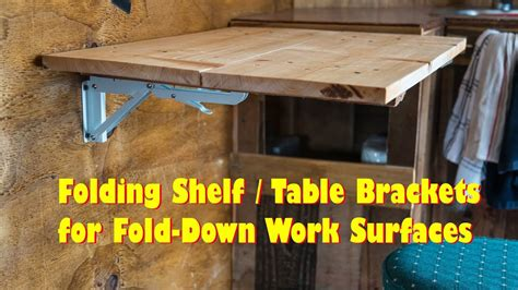 folding table brackets flip  wall mount easy diy