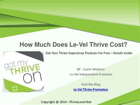How Much Does It Cost To Get Your Resume Professionally Done by How Much Does Le Vel Thrive Cost Get Your S For Free