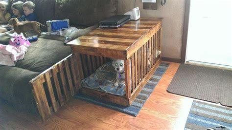 dog crate kennel indoor  pallets pinterest dog