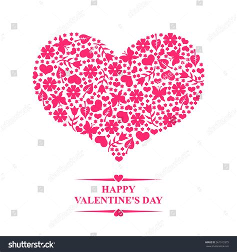 vector illustrations valentines day greeting card stock