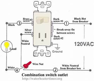 how to wire switches combination switch outlet light With wiring diagram moreover electrical outlet light switch wiring diagrams