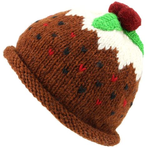 christmas pudding hat wool knit knitted xmas loudelephant