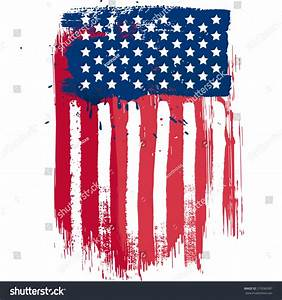 Vertical Composition Vector American Flag Grunge Stock