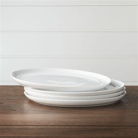 set   hue white dinner plates reviews crate  barrel