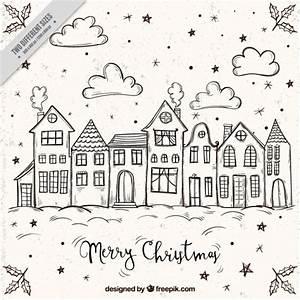 Bilder Mit Häusern : frohe weihnachten hintergrund mit skizzen von h usern download der kostenlosen vektor ~ Sanjose-hotels-ca.com Haus und Dekorationen