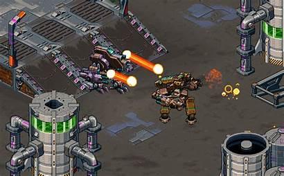 Mech Antraxx Isometric Apocalyptic Shooter Combat Bringing