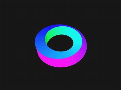Rainbow Ring Loop Gifs Animated Dribbble Strip