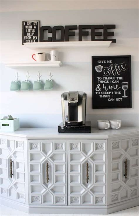 diy home coffee stations knockoffdecorcom