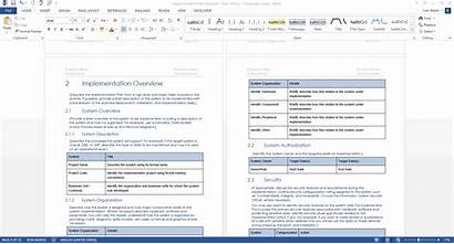 Template Implementation Plan Word Ms Templates Sample