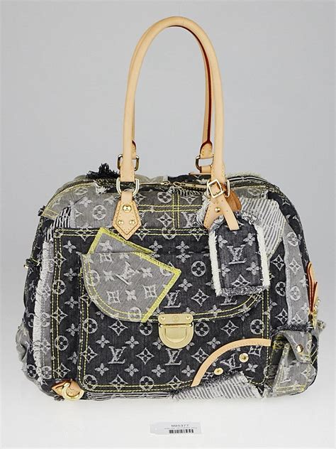 louis vuitton limited edition grey denim monogram denim