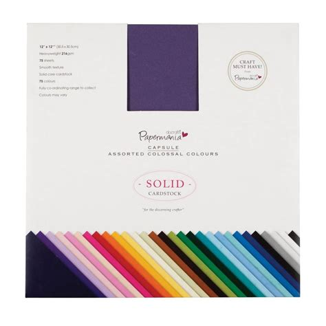 Papermania 12x12 Inch Solid Premium Cardstock Colossal ...