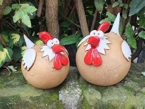 Hühner Aus Beton : deko objekte set gartenkeramik skulptur huhn vogel henne ~ Articles-book.com Haus und Dekorationen