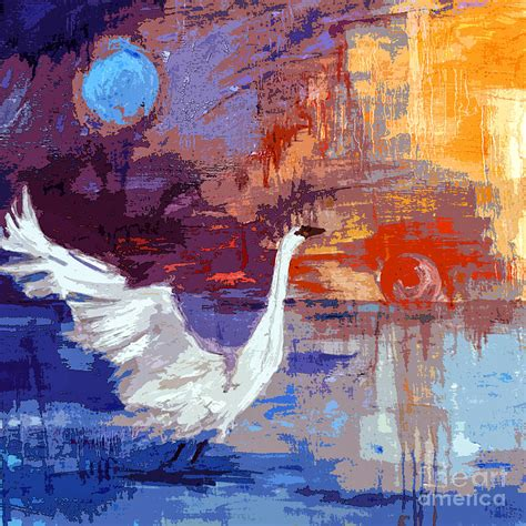 See more ideas about art, moon art, painting. Sun and Moon Swan Rising Painting by Ginette Callaway