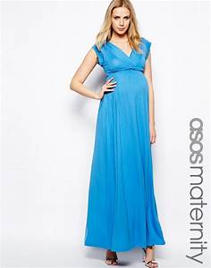 robe longue femme enceinte bleu taille haute pour With robe de grossesse pour ceremonie