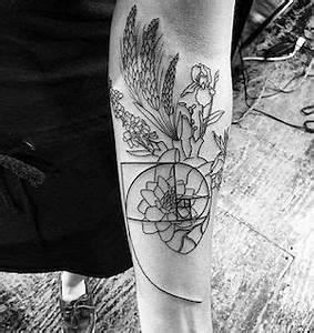 Gorgeous floral Fibonacci tattoo by JonBoy Tattoo | NYC ...