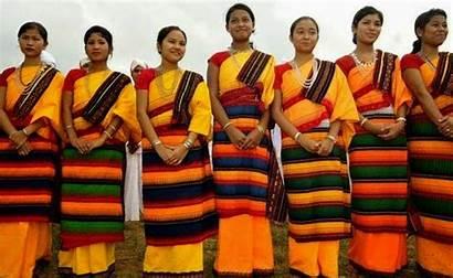 Assam Traditional Dimasa Tribe Dresses Karbi Meghalaya