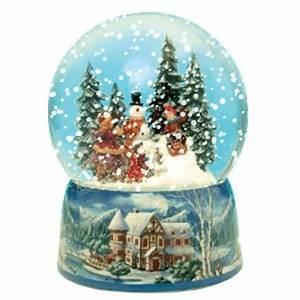 Boule De Neige Noel : boule neige anim e enfants et p re no l ~ Zukunftsfamilie.com Idées de Décoration