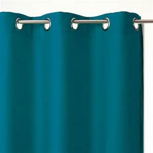 Rideau Bleu Turquoise : rideau occultant bleu rideau tamisant eminza ~ Teatrodelosmanantiales.com Idées de Décoration