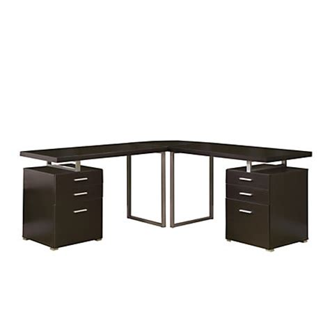l shaped computer desk with drawers monarch specialties l shaped computer desk with file