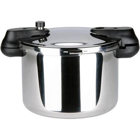 sitram stainless steel sitramax pressure cooker  steamer basket  qt