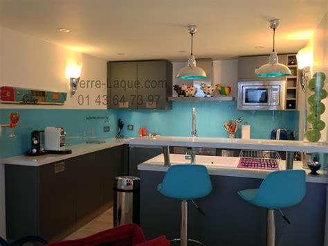 credence pour cuisine emejing cuisine bleu turquoise et gris ideas seiunkel us