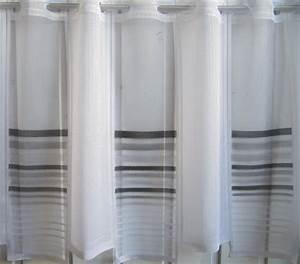 Gardinen Grau Weiß Gestreift : scheibengardine wei grau schwarz querstreifen 45 cm hoch ~ Bigdaddyawards.com Haus und Dekorationen