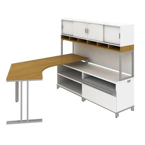 modern l shaped desk with hutch bush bbf momentum right l shaped desk with hutch in modern