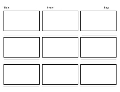 Design Storyboard Template storyboard template search multimedia projects