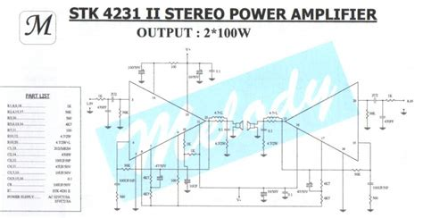 Stereo Power Amplifier With Stkii Schematic