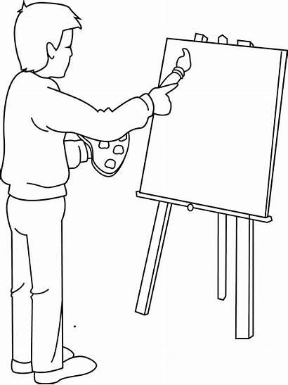 Clip Artist Clipart Painter Coloring Painting Cliparts
