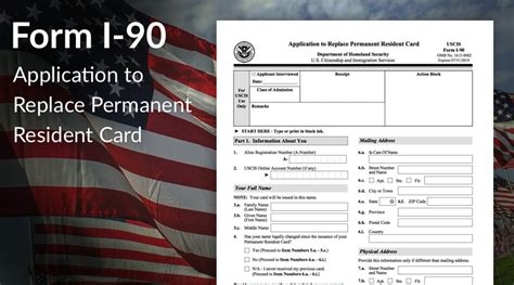 i 90 renewal form form i 90 application to replace permanent resident card