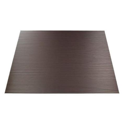 fasade rib 2 ft x 2 ft lay in ceiling tile in brushed