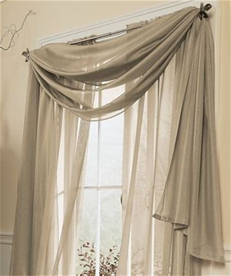 jcp home snow voile semi sheer scarf valance jcpenney