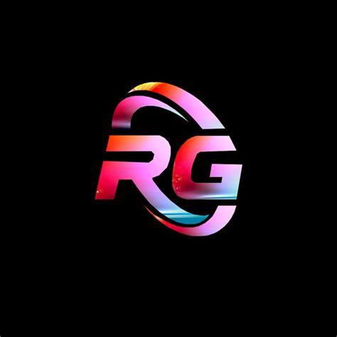 rg logo  stylist letter logo design photo logo design cool lettering