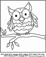 Coloring Number Owl Pages Printable Worksheet Info sketch template