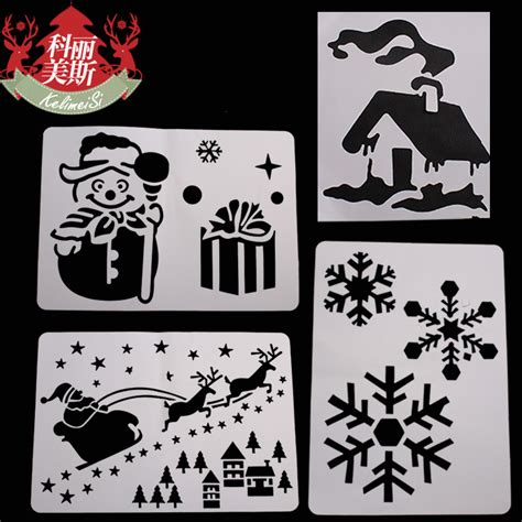 christmas inkjet spray plate glass template christmas