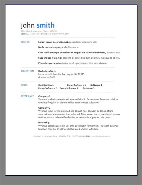 best 25 sle resume templates ideas on
