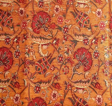 Jacquard Chenille Upholstery Fabric, Floral Fabric With