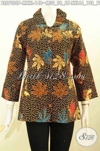 blouse krah baju batik wanita modern blus batik desain ofneisel