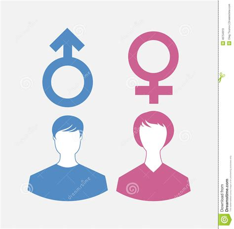 Female Bathroom Sign by Male And Female Icons Gender Symbols Stock Vector Image