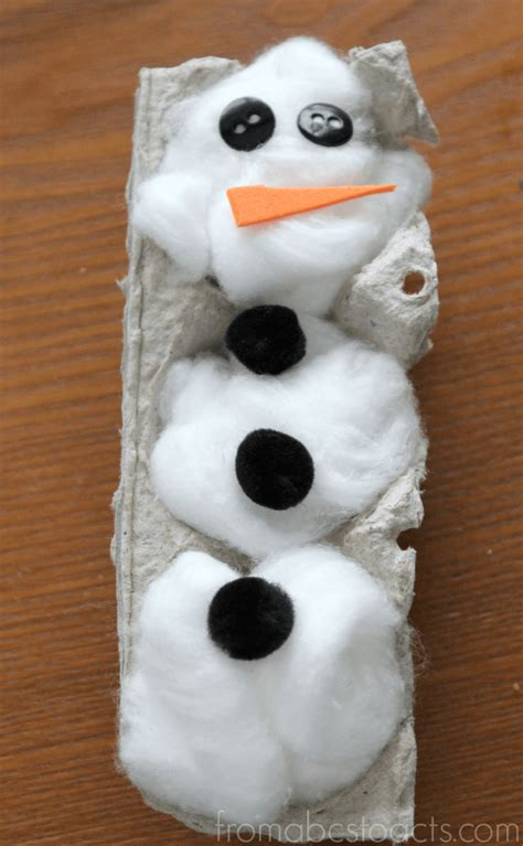 preschool snowman craft winter crafts for egg snowman from abcs to 262