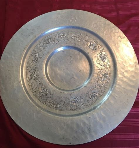 vintage aluminum trays vintage aluminum serving tray shop collectibles daily 3156