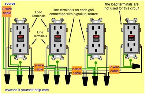 Outlet In Series Wiring Diagram by Wiring Diagrams Receptacle Outlets Do It