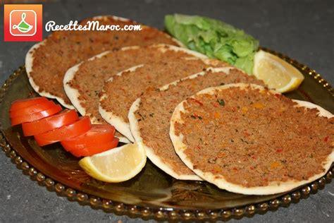 recette pizza turque lahmacun recettes maroc