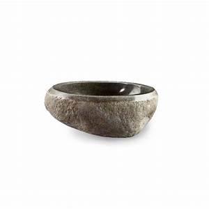 Vasque 35 Cm : vasque poser en pierre 35 cm pietra ~ Edinachiropracticcenter.com Idées de Décoration