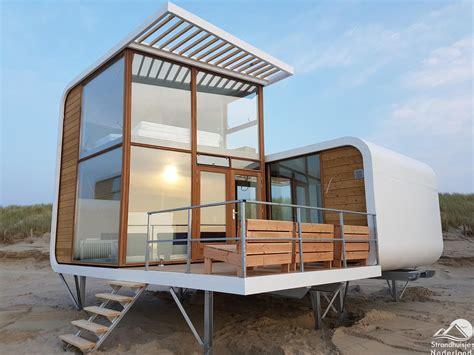 Einzigartige Strandhäuser Am Strand Von Nieuwvliet
